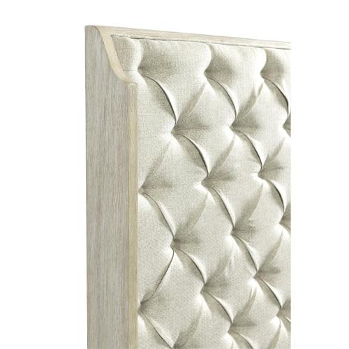 Lilly - Queen Upholstered Shelter Headboard - Champagne Finish