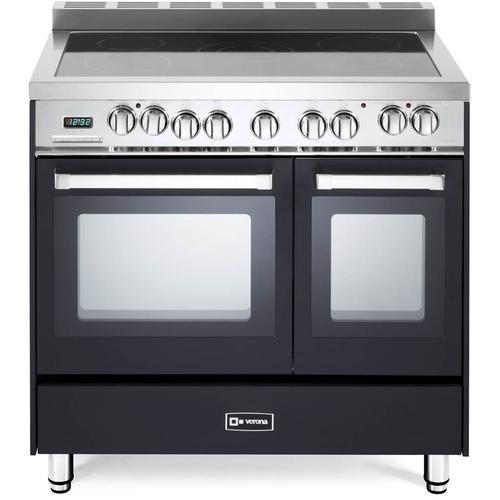 "Product Image - Matte Black 36"" Electric Double Oven Range"
