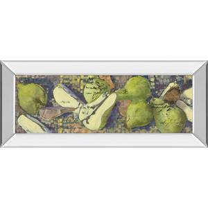 """Sparkling Pears I"" By Silvia Rutledge Mirror Framed Print Wall Art"