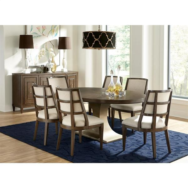 See Details - Monterey - Oval Dining Table Base - Mink Finish