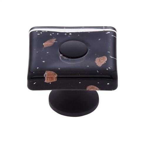 Oil Rubbed Bronze 35 mm Black Flat Square Knob