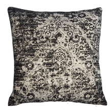 Velvet Faded Black Medallion Pillow