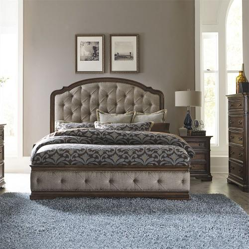 Liberty Furniture Industries - Queen Uph Bed, Dresser & Mirror, Chest, N/S