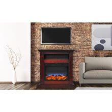 See Details - Cambridge Sienna 34 In. Electric Fireplace w/ Multi-Color LED Insert and Cherry Mantel, CAM3437-1CHRLED