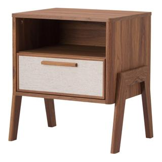 Heaton KD Side Table 1 Drawer, Walnut (ASSEMBLY REQUIRED)