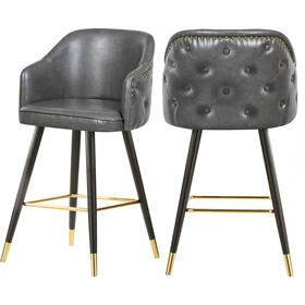 "Barbosa Faux Leather Bar  Counter Stool - 23"" W x 23"" D x 41"" H"