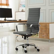 Panoton Chromel Contemporary High Back Office Chair, Gray