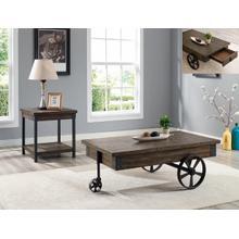 Otis Wagon Wheel Cof Table W/drawer