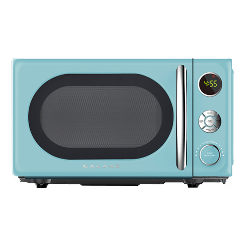 Galanz 0.7 Cu Ft Retro Microwave Oven in Bebop Blue
