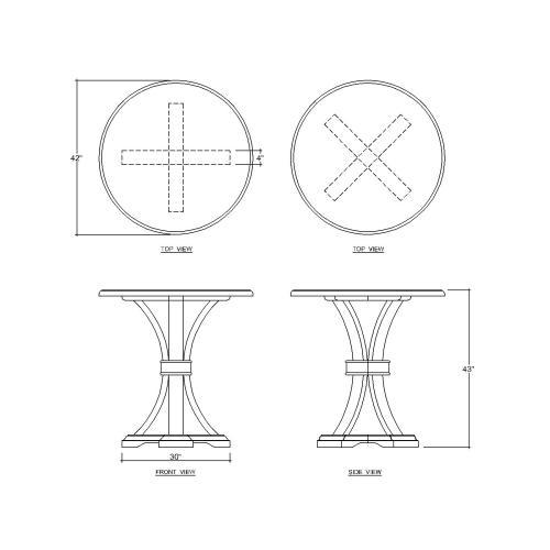 Archer Mindi Round Pub Table