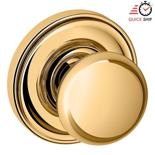 Baldwin - Lifetime Polished Brass 5030 Estate Knob with 5048 Rose