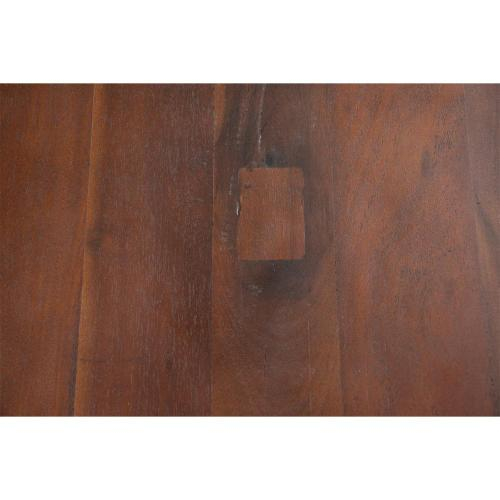 Rectangular Coffee Table - Patina Wood/black Metal Finish