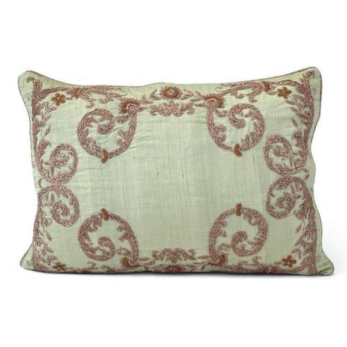 Celedon Green Silk Pillow