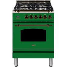 24 Inch Emerald Green Dual Fuel Liquid Propane Freestanding Range