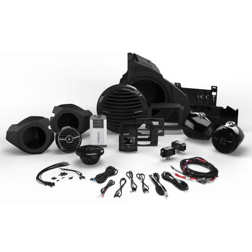 Rockford Fosgate - 400 Watt Stereo, Front and Rear Speaker, and Subwoofer Kit for Select Polaris® RZR® Models (Gen-2)