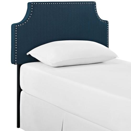 Laura Twin Upholstered Fabric Headboard in Azure