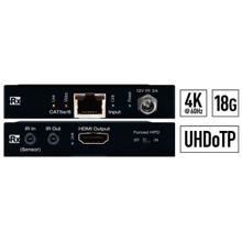 View Product - 4K 18G UHDoTP 35m Rx with Power over Cat, Two-Way IR, Forced Hot Plug Detection
