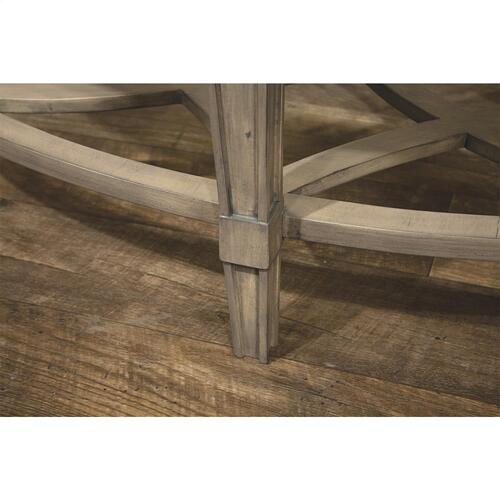 Riverside - Oval Coffee Table - Dove Grey Finish