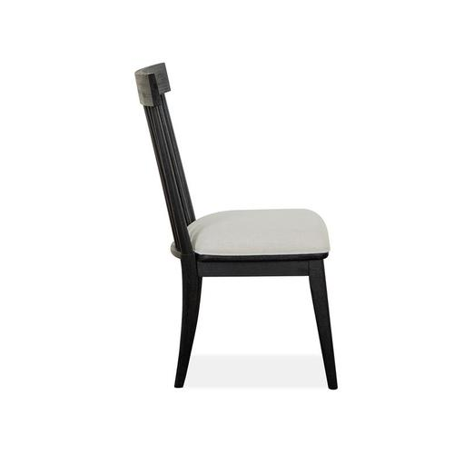 Magnussen Home - Dining Side Chair w/Uph.Seat&Wood WindsorBack(2/ctn)