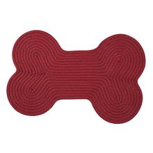 """Dog Bone Solid Dog Bone H578 Red 18"""" X 30"""""""