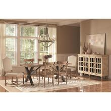 Callista Rectangular Dining Set - Table, 2 Upholstered Chairs, and 4 side chairs