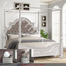 See Details - Queen Canopy Bed, Dresser & Mirror, Night Stand