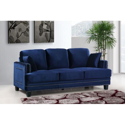 "Ferrara Velvet Sofa - 83.5"" W x 35"" D x 34"" H"