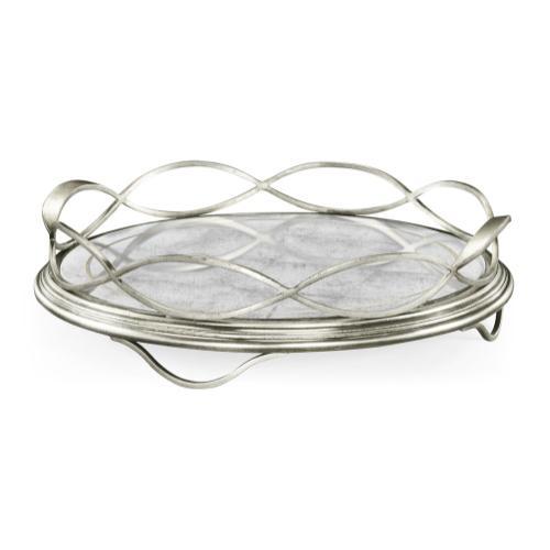 glomise & Silver Circular Tray