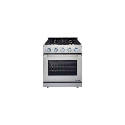 "Renaissance 30"" Self-Cleaning Gas Range with Pro Style Handle, Freestanding, in Stainless Steel, includes 3"" Backguard, Liquid Propane"