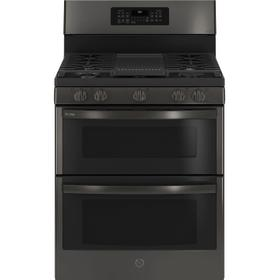 """GE Profile™ 30"""" Free-Standing Gas Double Oven Convection Range with No Preheat Air Fry"""
