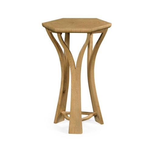 Architectural octagonal oyster lamp table