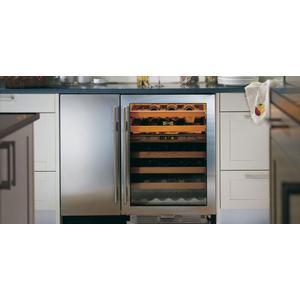 "Sub-Zero - 24"" Undercounter Wine Storage - Classic Stainless with Pro Handle"