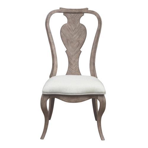 Ella Splat Back Side Chair 2pc in Gray