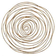 See Details - Faux Bamboo Circles Wall Decor