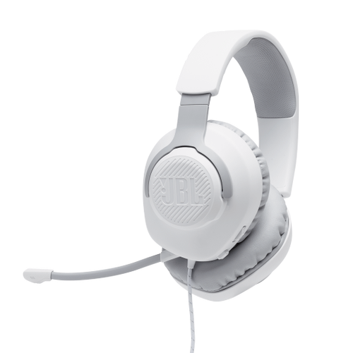 JBL Quantum 100 Wired over-ear gaming headset with a detachable mic