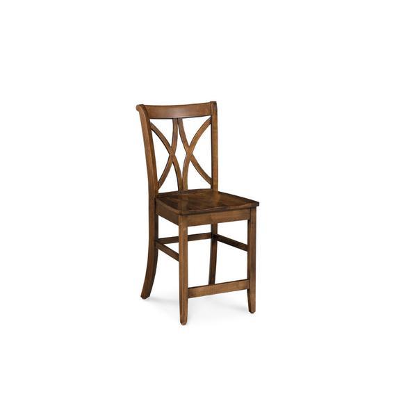 "Hanna Stationary Barstool, 30""h, Fabric Seat"
