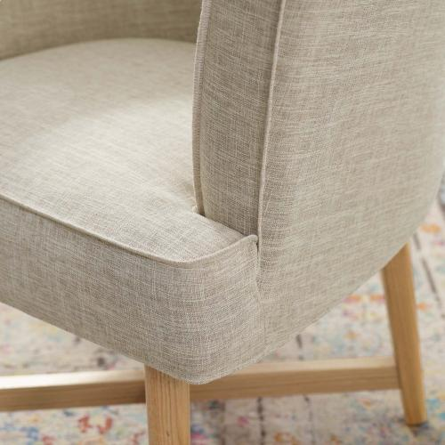 Modway - Anders Upholstered Fabric Accent Chair in Beige