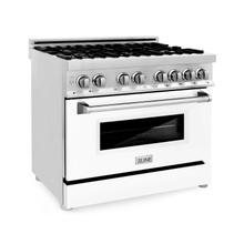 """See Details - ZLINE 36"""" Dual Fuel Range with Gas Stove and Electric Oven in Stainless Steel with Color Door Options (RA36) [Color: White Matte]"""