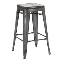 "Bristow 26"" Backless Metal Barstool In Matte Glavanized"