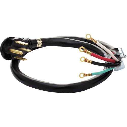 Frigidaire - Smart Choice 4' 50-Amp. 4-Prong Range Cord