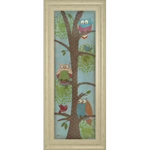 """""""Fantasy Owls Panel Il"""" By Paul Brent Framed Print Wall Art"""