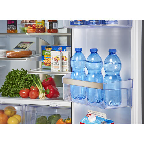 Gallery - GE Profile 23.5 Cu. Ft. Energy Star French Door Refrigerator with Space Saving Icemaker White - PFE24HGLKWW