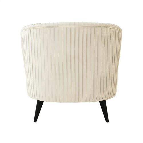 Tov Furniture - Maliah Pleated Cream Velvet Settee