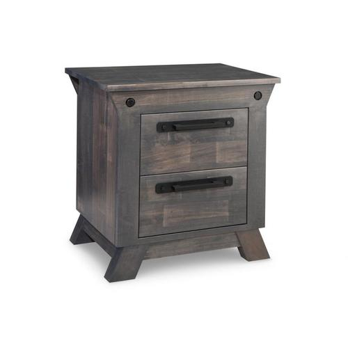 Handstone - Algoma 2 Drawer Night Stand with Power Management