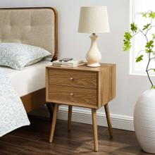 See Details - Ember Wood Nightstand With USB Ports in Natural Natural