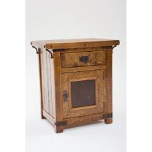 Bungalow - 1 Door 1 Drawer Nightstand