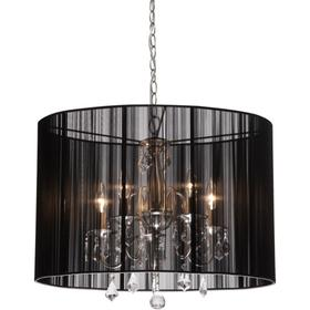 Chand. LG Oval Shade/Cryst. LS