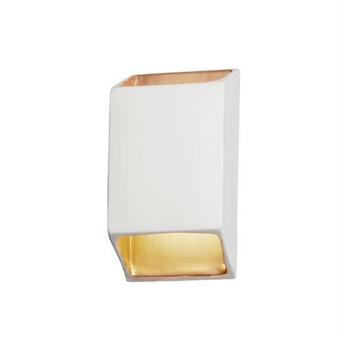 Large ADA Tapered Rectangle LED Outdoor Wall Sconce (Open Top & Bottom)