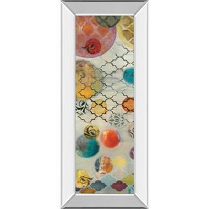 """Classy Art - """"Casa Blanca Panel Il"""" By Jeni Lee Mirror Framed Print Wall Art"""