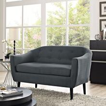 See Details - Wit Upholstered Fabric Loveseat in Gray